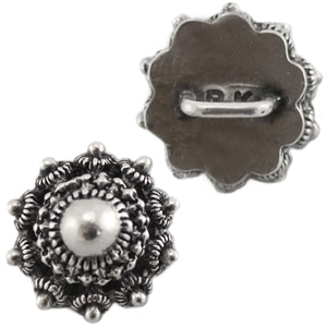 Button Zeeuwse Knoop Antiek Zilver Beadhouse