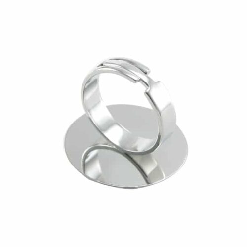 Ring met 25mm plaatje-Beadhouse.nl